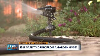 Is drinking from a garden hose safe for children?