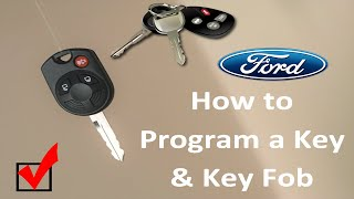 How to Program a Ford key and key fob