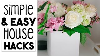 INTERIOR DESIGN: Simple and EASY House HACKS | 5 Decorating and Organizing Tips!