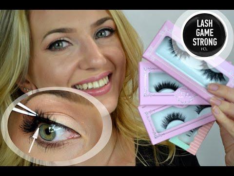 False Eyelashes For Beginners   Applying Eyelashes UNDERNEATH   House of Lashes Review