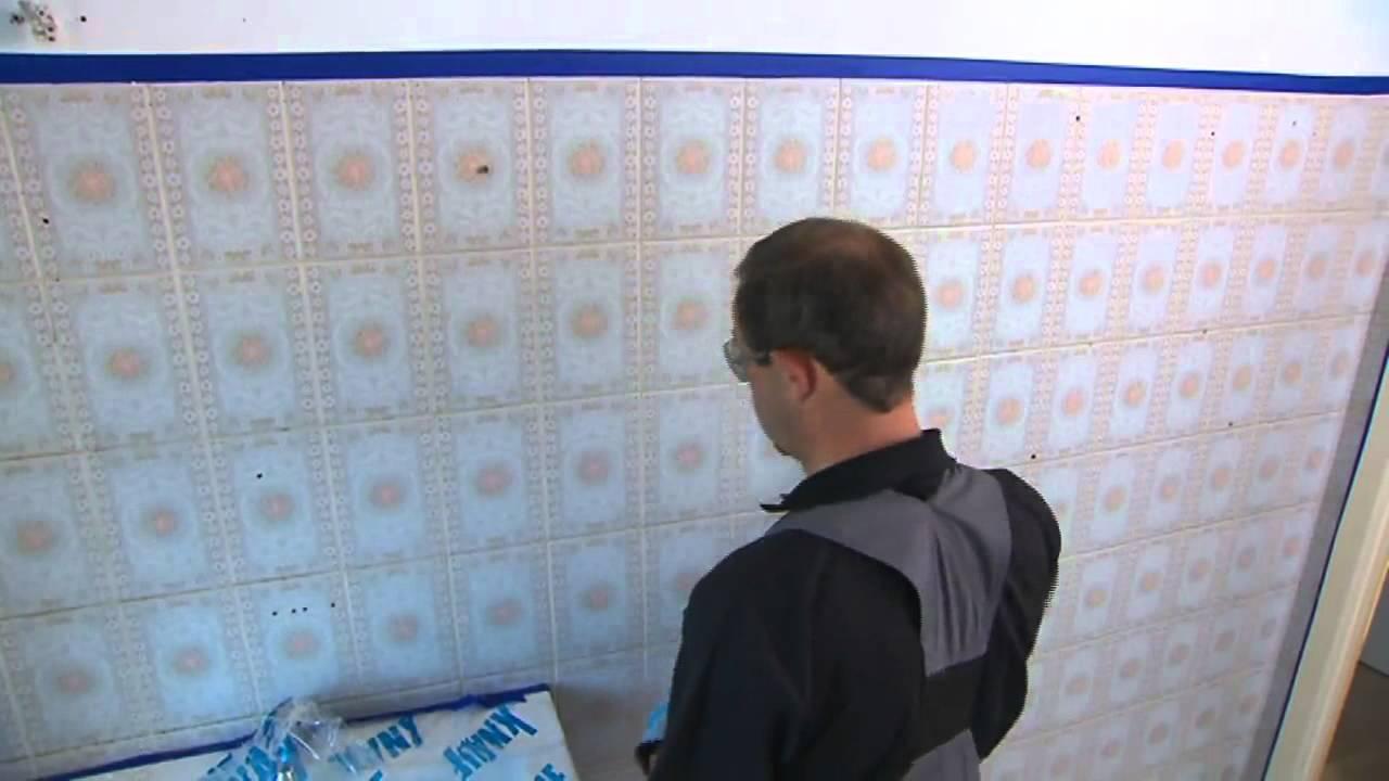 Vloertegels Keuken Verven : Een retrobadkamer herschilderen tegelverf – YouTube