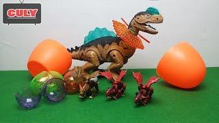 Dinosaur eggs surprise - Bóc trứng Khủng Long lắp ráp tuyệt đẹp mở trứng bất ngờ