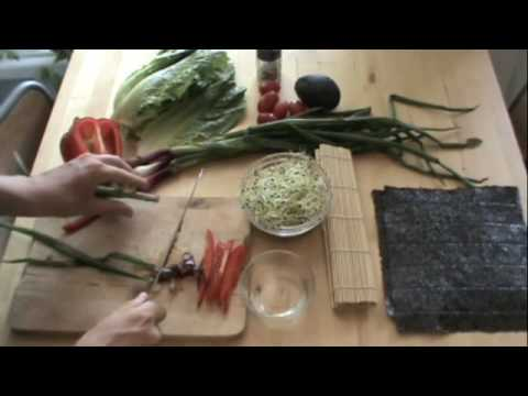 Raw Food Recipe-Vegetable Nori Rolls, Ep18