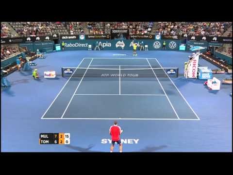Gilles Muller v Bernard Tomic highlights (QF) - 2015 Apia Sydney International