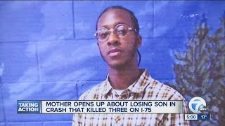 Mom opens up about losing son in crash that killed three on I-75