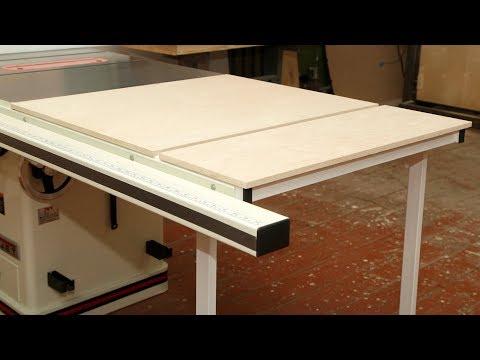 Расширение стола циркулярной пилы Table saw Extension DIY
