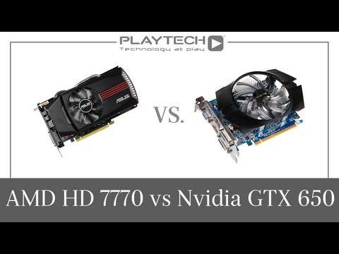 PlaytechTV - AMD Radeon HD 7770 vs. Nvidia GeForce GTX 650 Graphics Card Comparison
