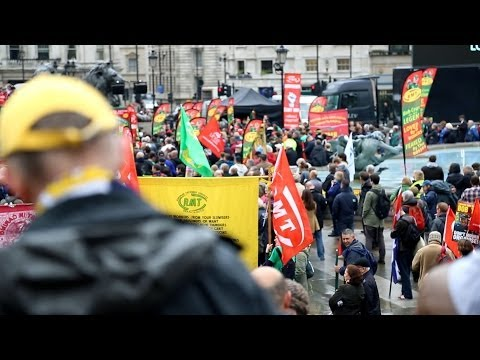 London May Day March Honours Bob Crow and Tony Benn