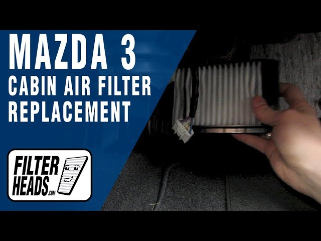Cabin air filter replacement- Mazda 3 - YouTube