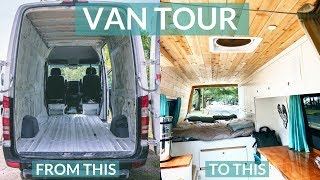 ULTIMATE OFF-GRID SPRINTER VAN CONVERSION | DIY VAN TOUR
