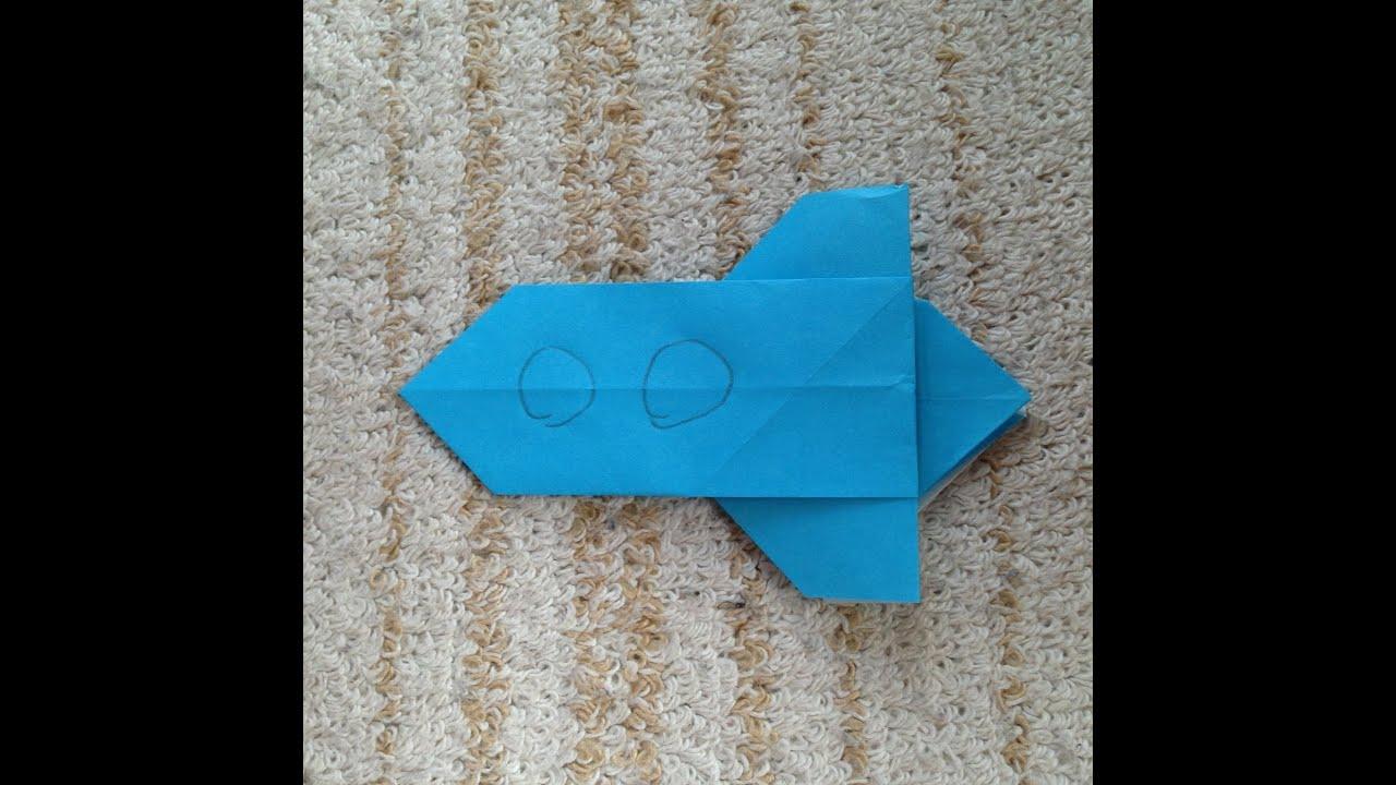折り紙 ロケット 折り方 作り方 ...