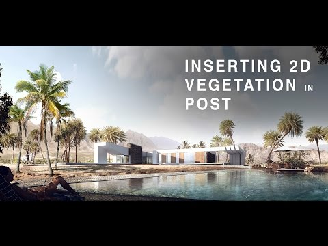 Inserting 2D Vegetation in Post Production #1