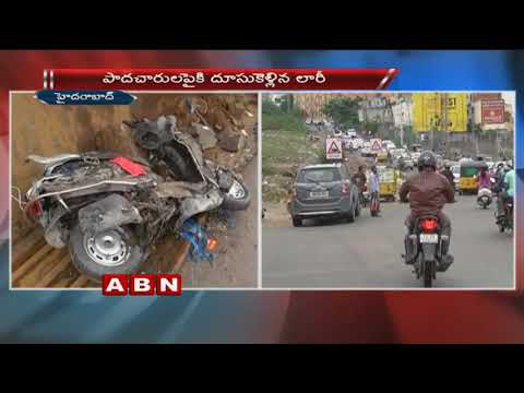 One Lost Life as Truck hits Bike | Hyderabad