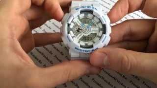 Как настроить CASIO G-SHOCK GA-110SN-7AER и другие модели GA-110 - видео от PresidentWatches.Ru