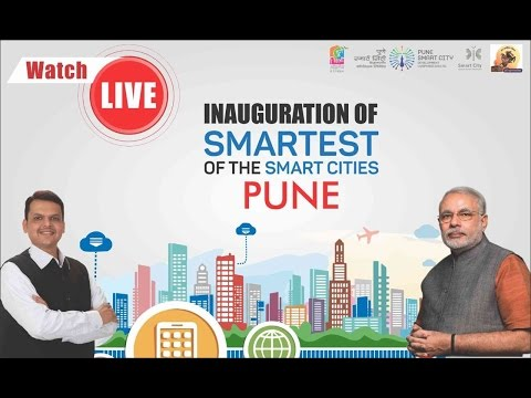 PM Narendra Modi along with CM Devenra Fadnavis to Launch Smart City Mission from Pune