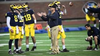 Scenes from Michigan football's open practice at Ford Field