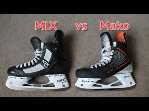 Easton Mako Ice Hockey Skates VS MLX Ice Hockey Skates - Comparison or Difference Between Mako & MLX