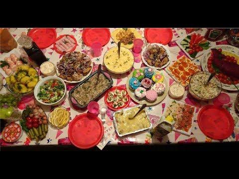 Праздничный стол на День Рождения