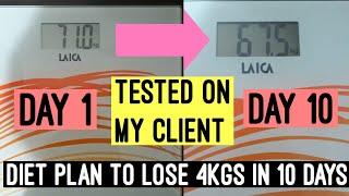 Lose 4kgs in 10 Days Diet Plan | Vegetarian Diet Plan For weight loss | Azra Khan Fitness