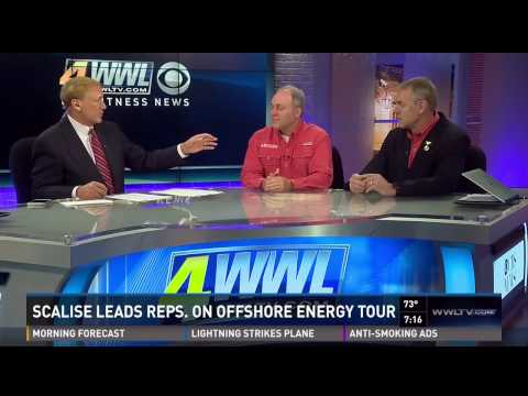 Scalise and Zinke discuss the 2015 Offshore Energy Tour on WWLTV