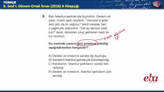 2016-2017 1. Dönem TEOG Türkçe Soru ve Cevapları