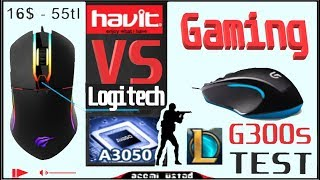 Oyuncu Mouse inceleme. Cs-Go TEST [4]16$ -55tl/ Logitech G300s vs Havit HV-MS761/ best gaming mouse