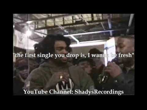 Eminem vs Kuniva Battle *FULL Version* HQ Lyrics at The Hip-Hop Shop Detroit