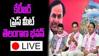 TRS Press Meet at Telangana Bhavan | KTR Speech LIVE |  Hyderabad | Telangana | TopTeluguMedia