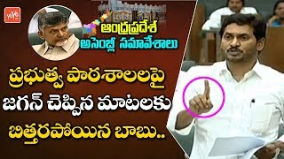 Chandrababu Shocking Reaction for YS Jagan Speech Over Government Schools in AP Assembly