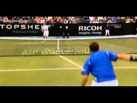 Wawrinka's great shot against García López Semifinal Hertogenbosch 2013