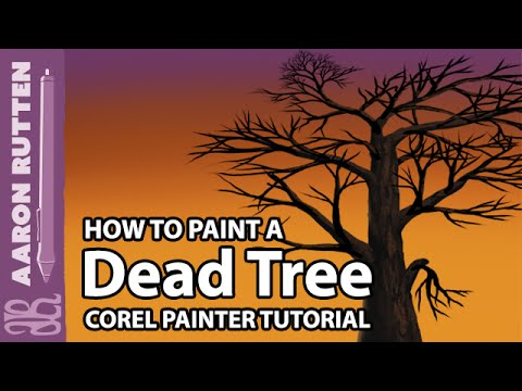 Corel Painter Tutorial - How to Paint a Dead Tree