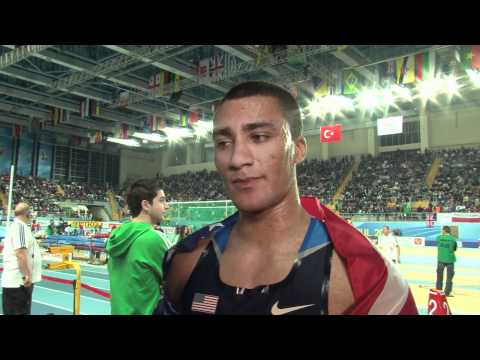 Ashton Eaton breaks own WR and wins gold in Heptathlon at World Indoors 2012