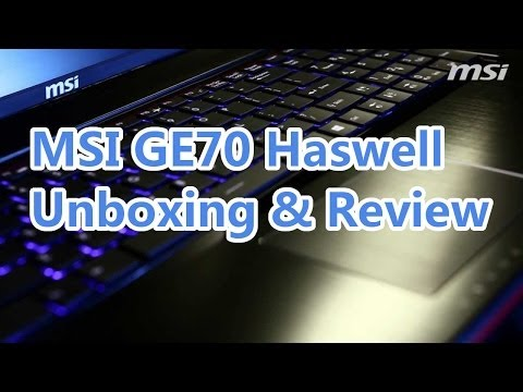 Best Gaming notebook under 1800$ MSI GE70 2OE I7 & GTX765m Unboxing and review [HD]