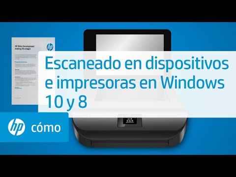 Escaneado en dispositivos e impresoras en Windows 10 y 8   HP Computers   HP