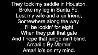 Amarillo by morning lyrics