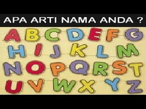 Arti Nama Berdasarkan Huruf Abjad A - Z (Jangan Kaget)