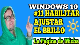 no funciona ajustar el brillo en windows 10