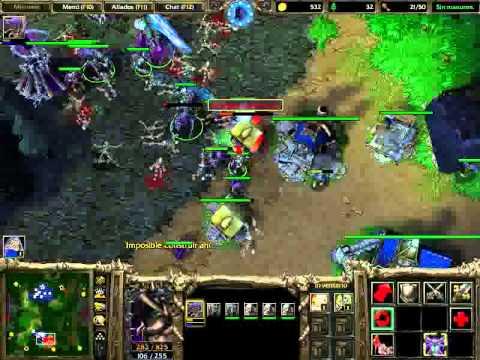 Warcraft Frozen Throne Muertos Vivientes VS Humanos Demente parte 2/3 (KeyDemon)