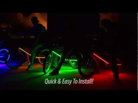 Woah! Glowing BMX Bikes Doing Backflips And Hitting Jumps!