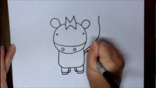 How To Draw A Cow Step By Step Cartoon Beginning Drawing Lesson For Kids Doodleacademy