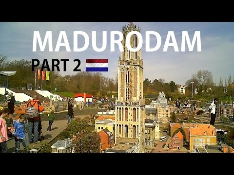 HOLLAND: Madurodam (part 2) miniature city [HD]