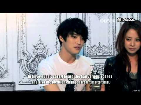 [ENG SUB] 120914 OBS Jaejoong and Jihyo talk about XXXX scenes in their movie Jackal Is Coming