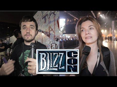 Leon e Nilce na Blizzcon (dia 01)