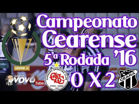 [Cearense '16] Guarany SC 0 X 2 Ceará SC - Tiago Cametá - Narração: Jota Rômulo
