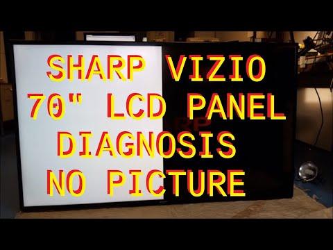 Sharp Vizio 70 inch bad LCD panel diagnosis.
