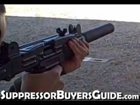 Silenced Uzi 9mm Shooting a Suppressed Uzi 9mm