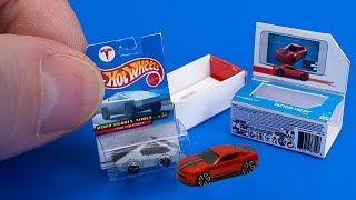 How to make a mini Hot Wheels Tesla Cyber Truck and Hot Wheels iD 2018 Camaro SS - Tutorial
