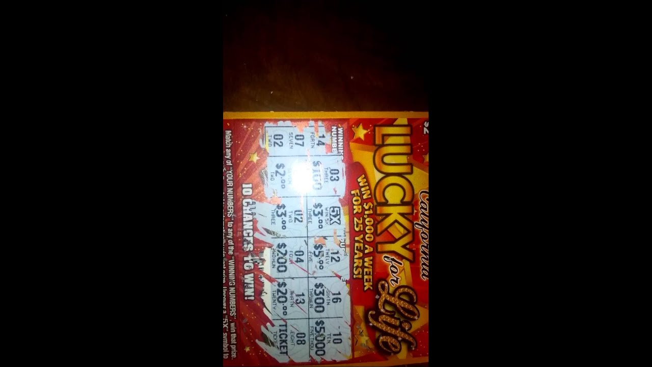 Winning Set For Life Ticket