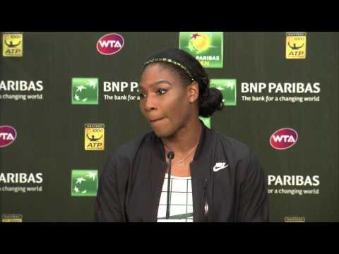 Serena Williams 2015 BNP Paribas Open Pre-Tournament Interview