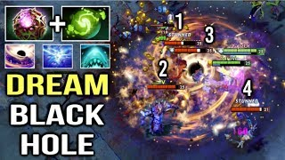 OMG DREAM BLACK HOLE Saves The Game! EPIC OC Refresher Enigma COMBO Gameplay by Yapzor 7.21 Dota 2